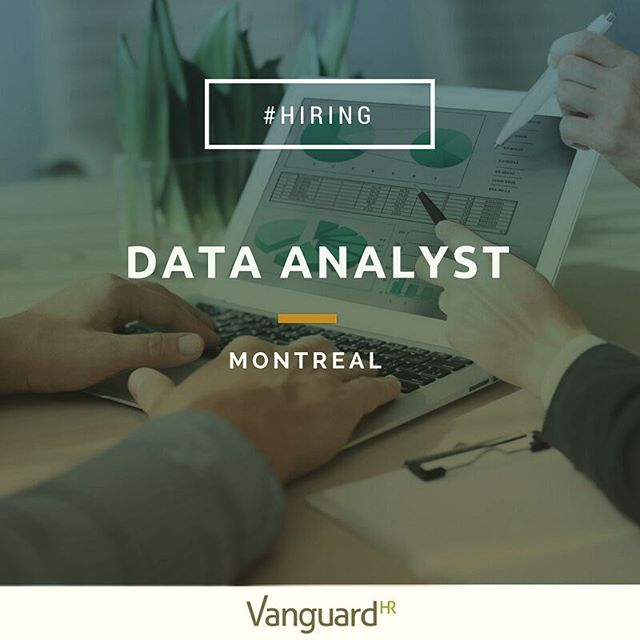 #Hiring - We're looking for a Data Analyst to join an outstanding company working in the Financial Technology sector. Check link in bio to apply. #Montreal #Montrealjobs #Datascience #digitaljobs