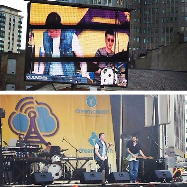 Rocking out at the DreamOn Music Festival today! So much fun!  Thanks again to all who came!  #dreamonfest