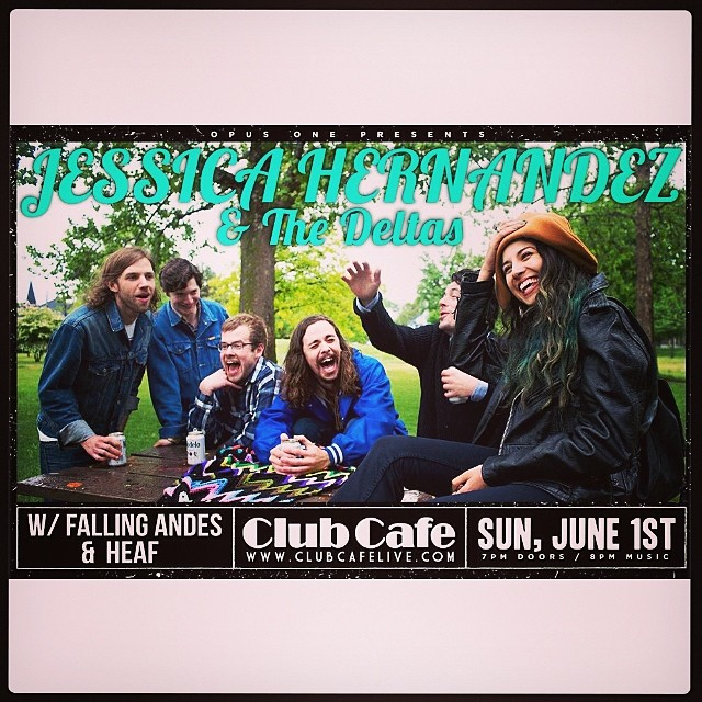 Tonight! Come check out Detroit band, Jessica Hernandez & The Deltas. We're opening for them along with Heaf. 8PM at Club Cafe.  https://m.facebook.com/events/235924856607877