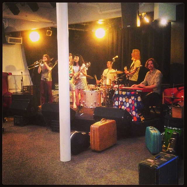 @detroitjess (Jessica Hernandez & The Deltas) at sound check @clubcafelive GET DOWN HERE!  They sound great!  8PM tonight!