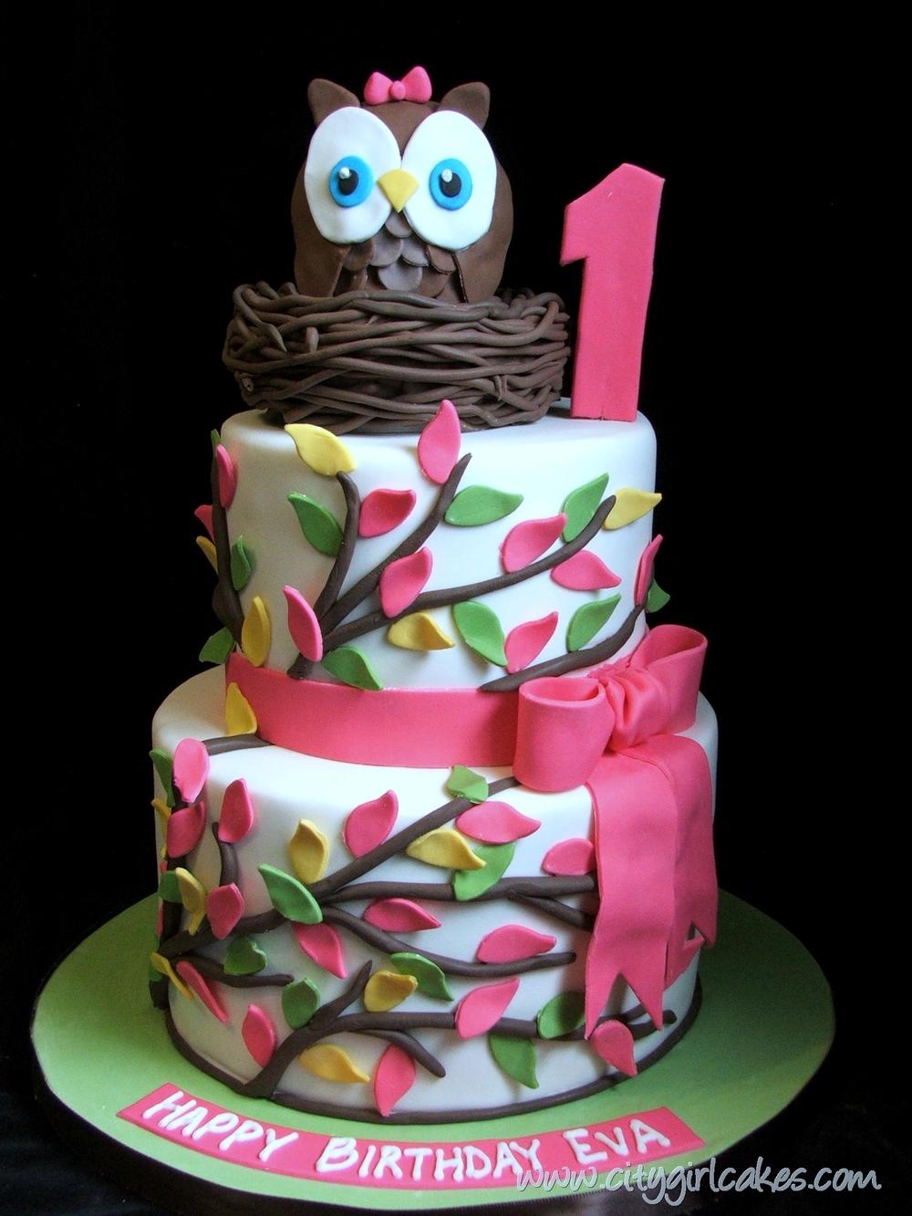 Whooooos One Invitation Inspiration City Girl Cakes