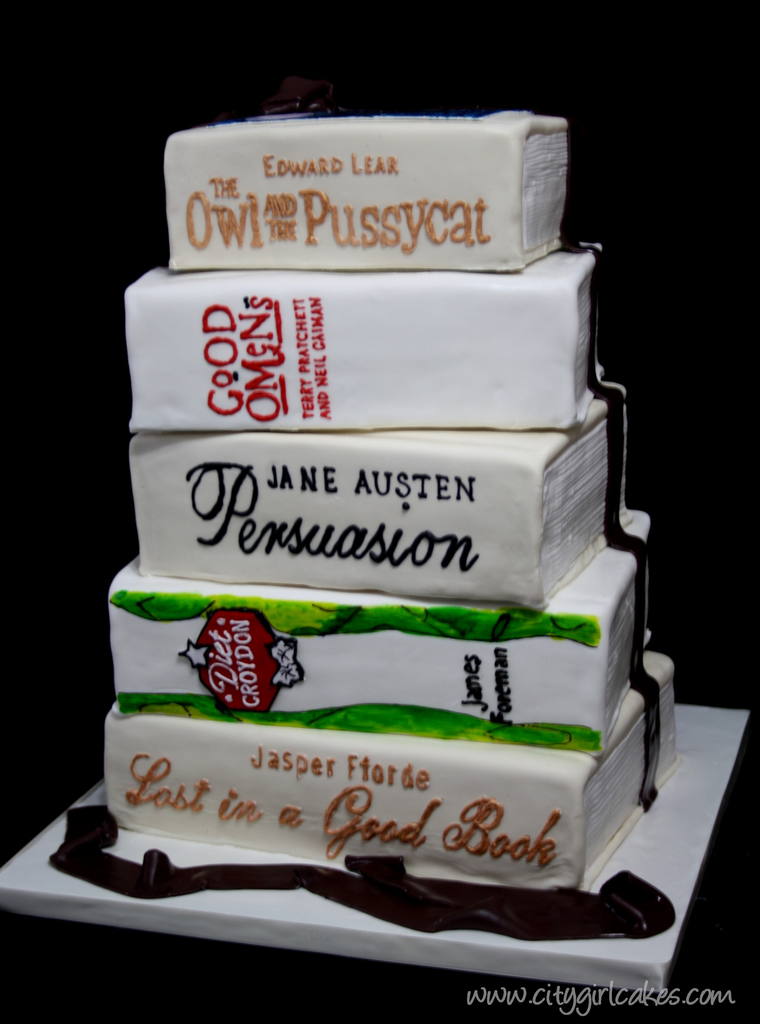 Book Lovers Wedding Cake City Girl Cakes Halifax Dartmouth