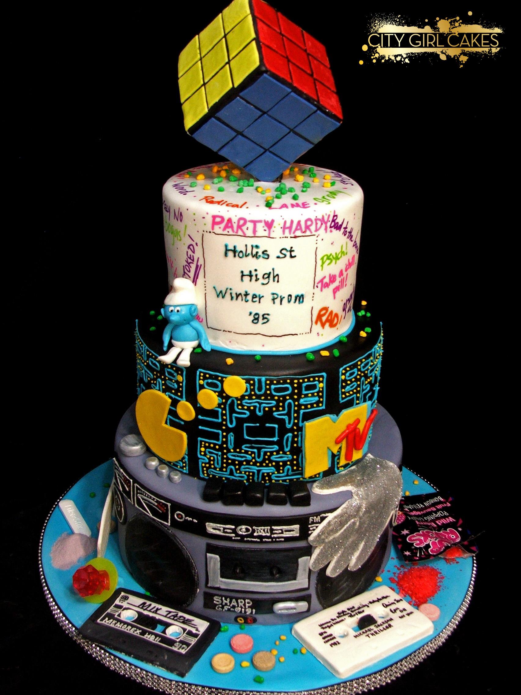 80s Theme Cake Happy Times City Girl Cakes Halifax