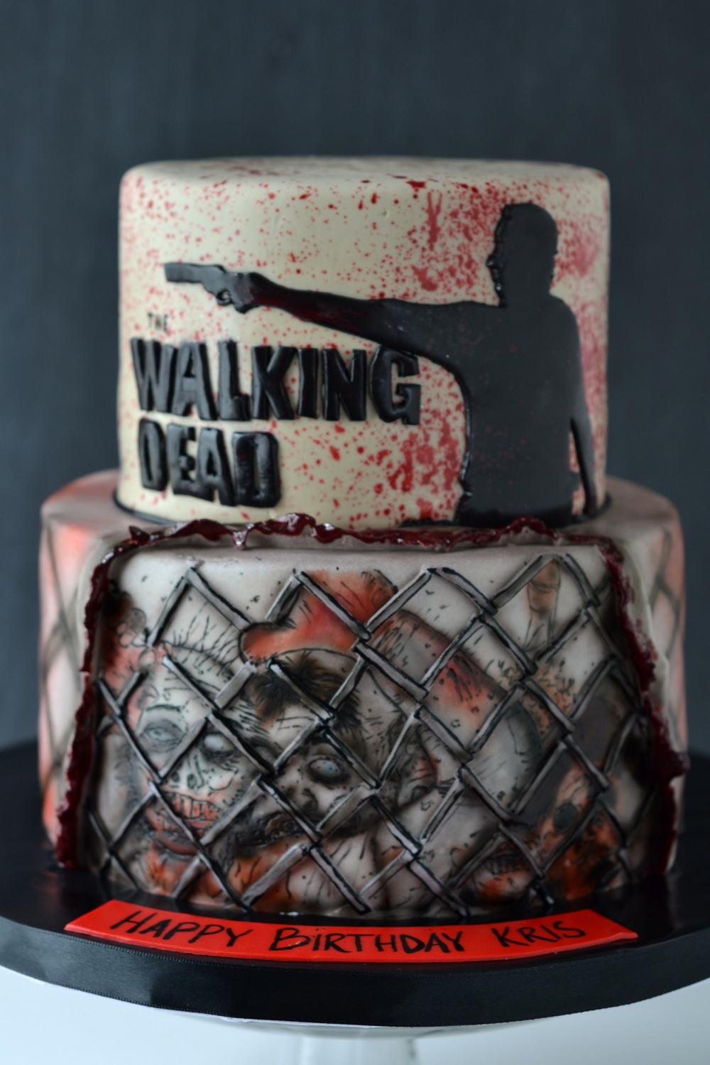 Pictures Of The Walking Dead Birthday Cakes