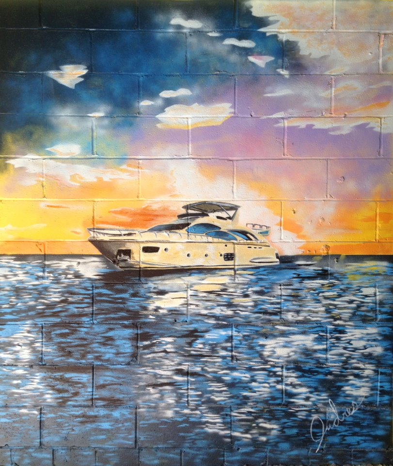 Mural at Elite Fabrication