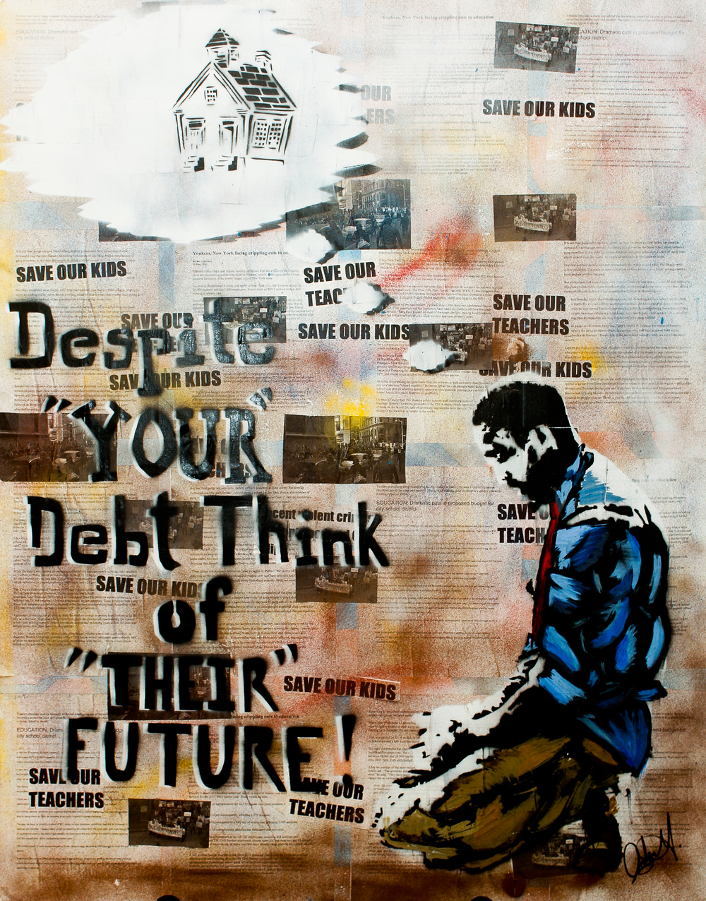 Despite your debt, think of their future