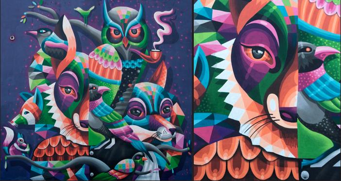 Mural painting in Bushwick at art depot