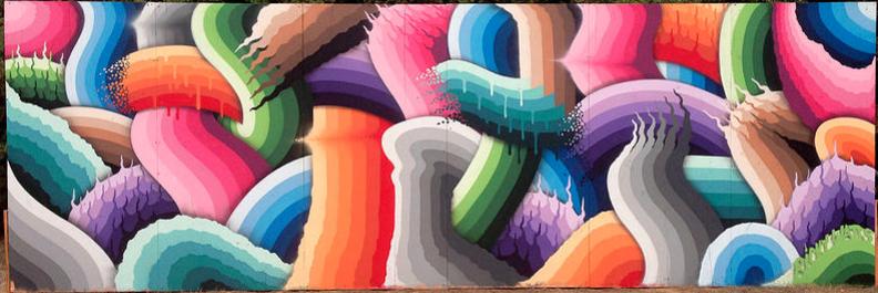 Mural for the Outside Lands Music Festival in San Fransisco