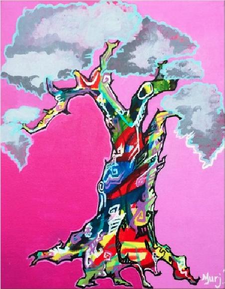 Big Pink Trippy Tree