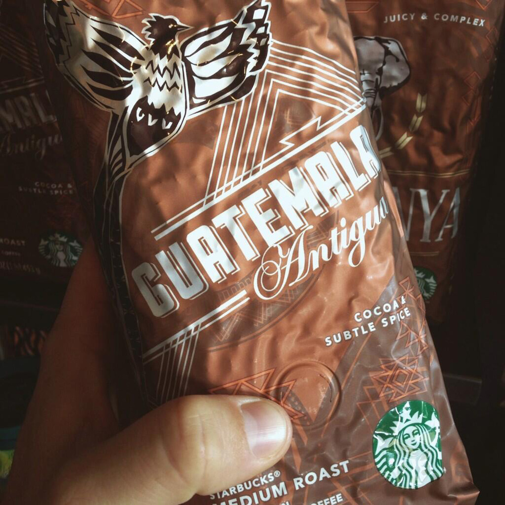 Starbucks retail packaging