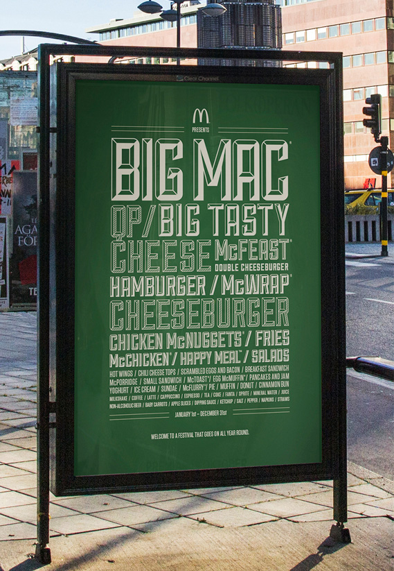 McDonald's ad in Sweden