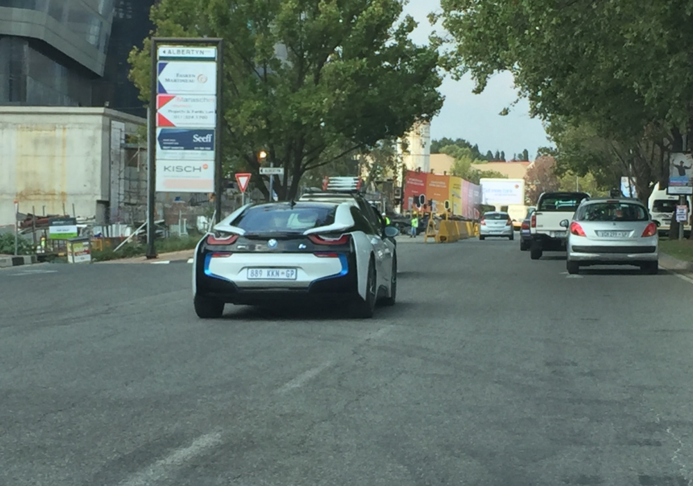 We saw an i8 while driving to the mall!