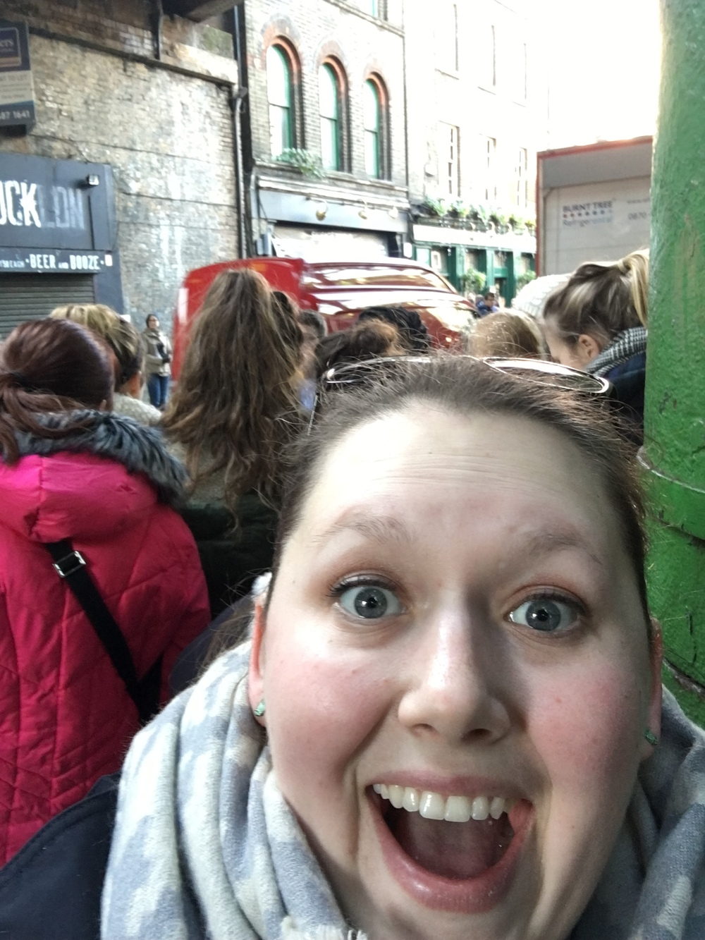 The storefront behind me was used as a filming location for The Leaky Cauldron in Harry Potter and the Prisoner of Azkaban.