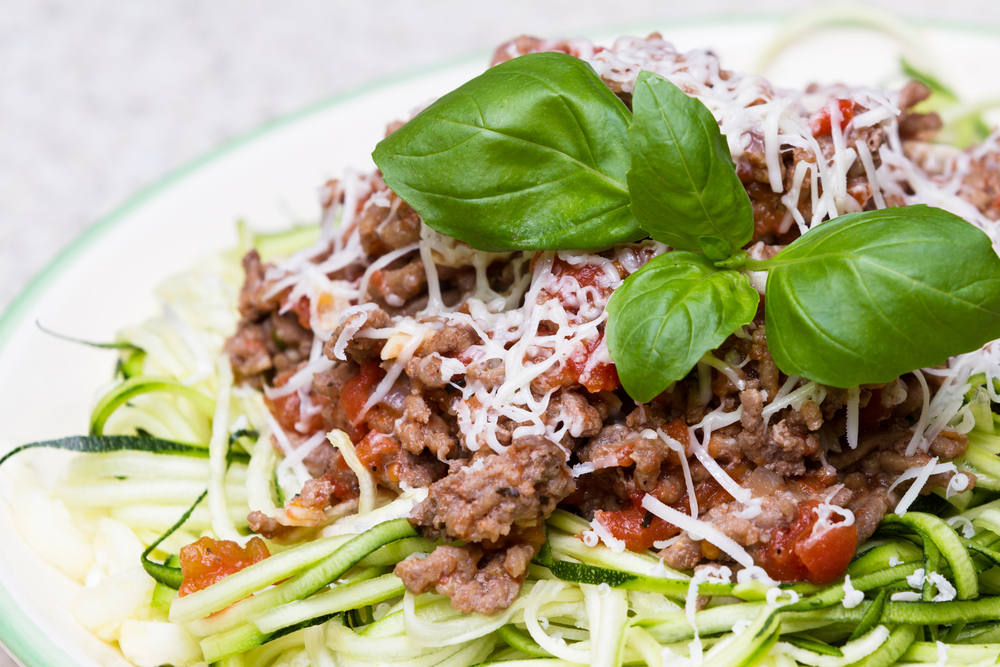 Bolognese with Spirilized Zucchini