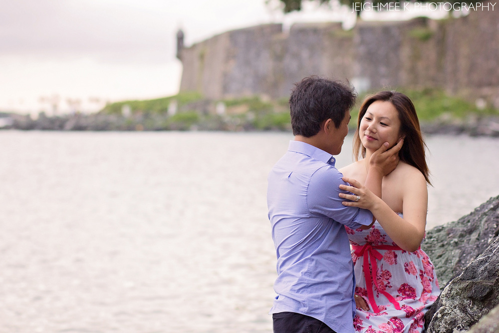 Old San Juan Beach Engagement Session