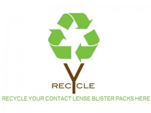 contact lens recycling:~if you're interested in recycling your contact lens packaging, we're proud to be a collection site for terracycle. bring in your used contact lens packaging to our office.~we can take the plastic blister pack, the foil, and even the dried used contact lens. just make sure the solution is emptied and packaging is dried. -
