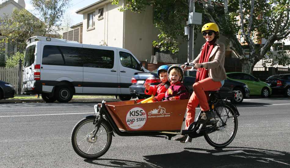 Happy Cargo Bike Riding in the City of Port Phillip - image courtesy of Laura Beilby