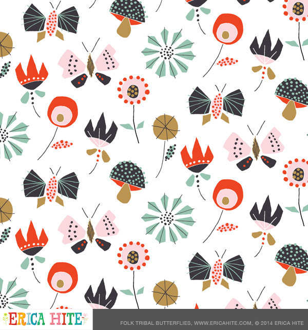 This pattern made it into Uppercase Magazine's Surface Pattern Design Guide!