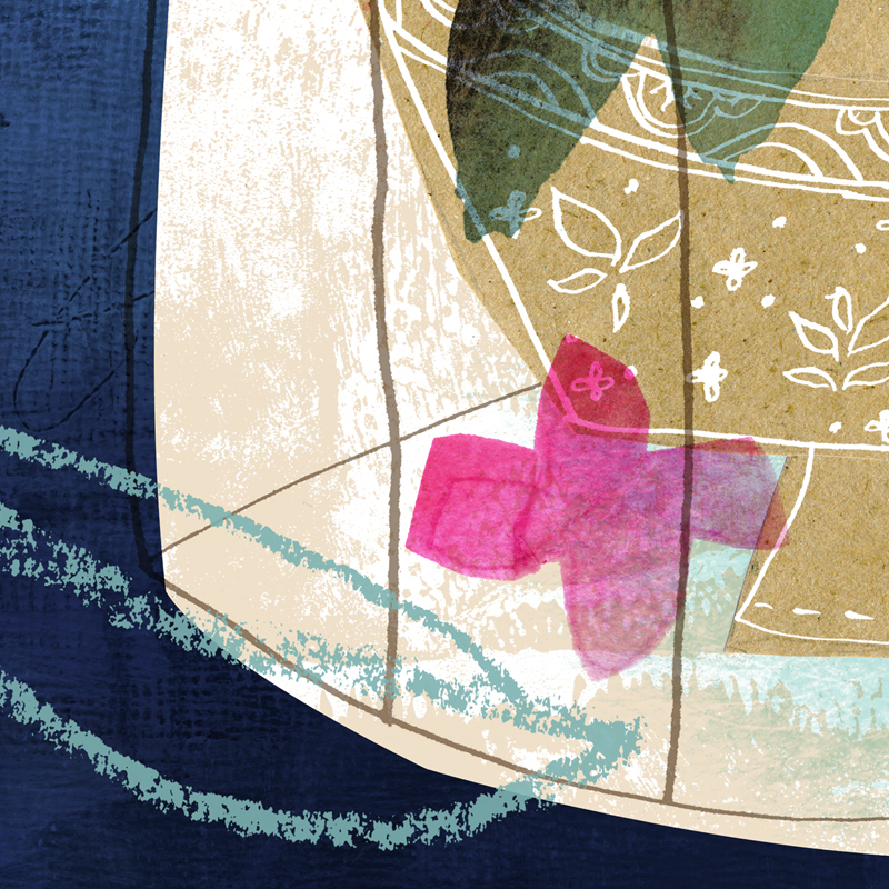 Close-up of a tiny preview of my submission. Quite a 180 from last year's, which you can see below.