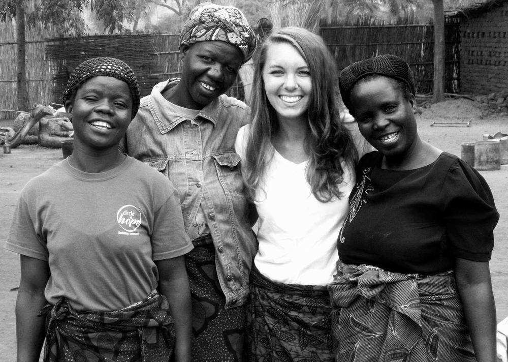 Amai Maria, Amai Bhoko, Jessica Casner and Amai Pedro  Circle of Hope International  - Two Month Internship Mvera, Malawi, Summer of 2012