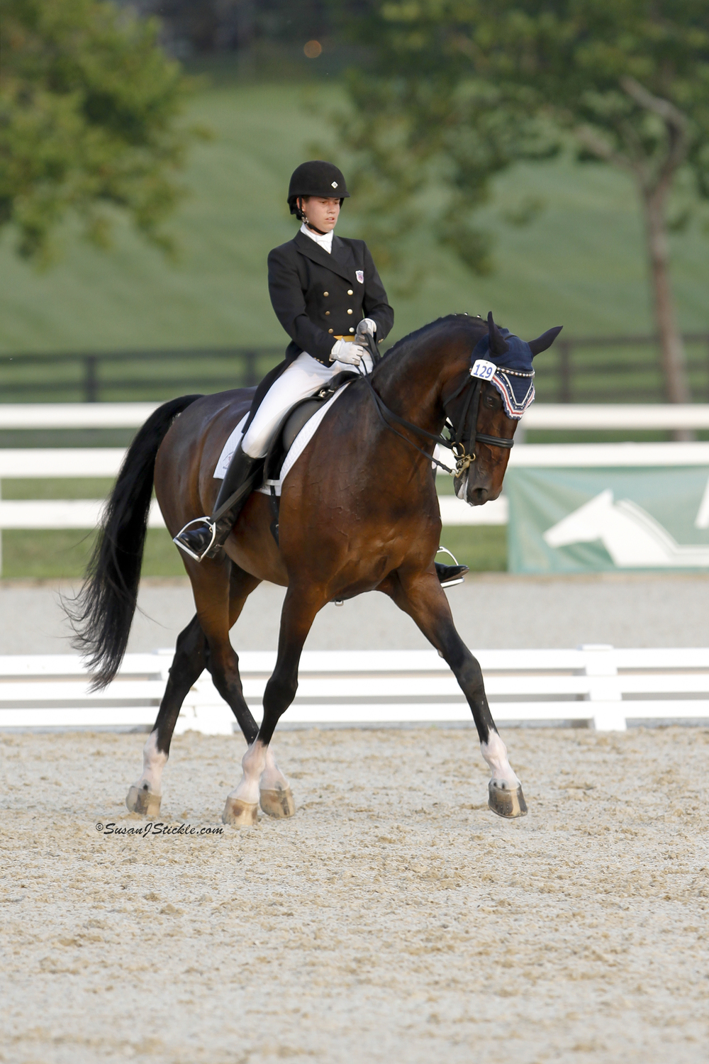 Kelli Newton and Luciano - NAJYRC Dressage Freestyle 2011, Kentucky