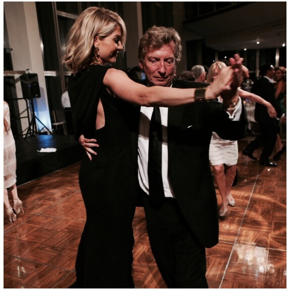 Jenna & Dizzy Feet's Co-President Nigel Lythgoe enjoying a dance together at the 2013 Dizzy Feet Foundation Gala.