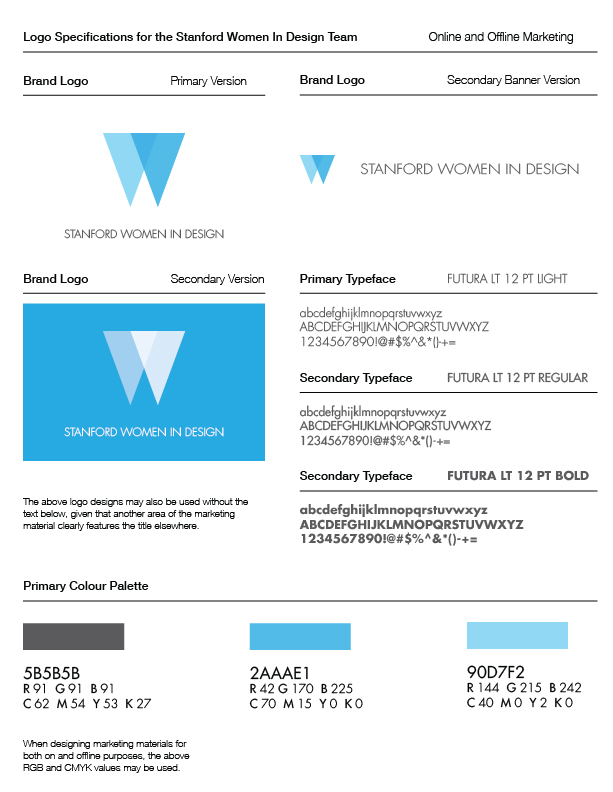 First Iteration of Branding Spec Sheet