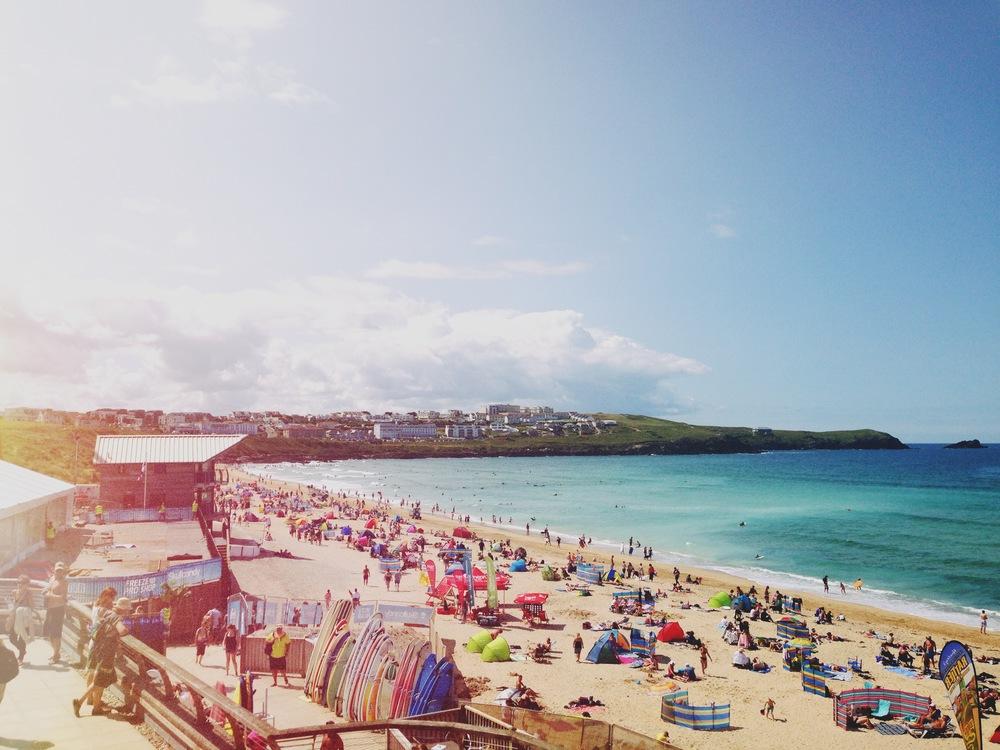 Fistral beach, boardmasters 2014