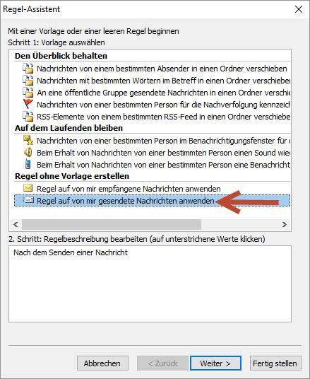 Outlook Regeln korrekt anwenden