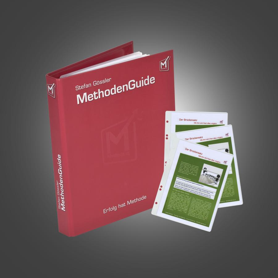 Aus der Nebenleistung wurde ein Produkt: MethodenGuides zu meinen Seminaren schaffen Nachhaltigkeit beim Teilnehmer und Wert beim Auftraggeber.