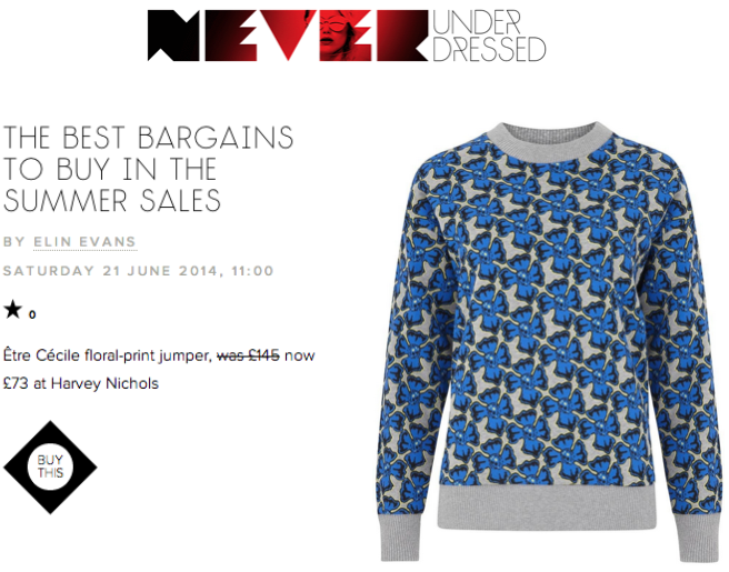 Never Underdressed Etre Cecile closed