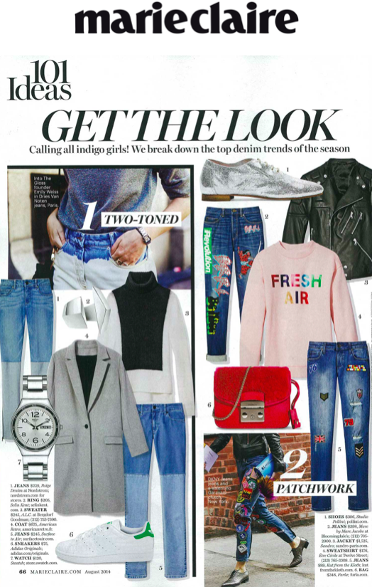 Être Cécile Sweater in Marie Claire Magazine