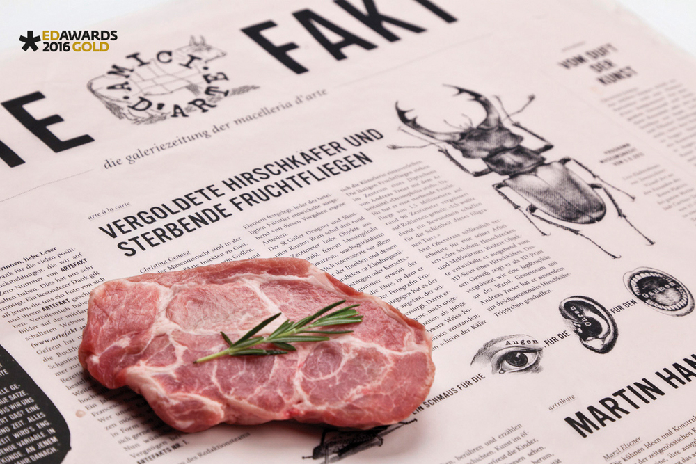 ARTEFAKT GALLERY NEWSPAPER ON BUTCHER-PAPER
