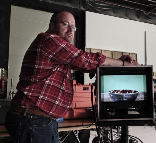 Stink producer Giles Johnson overlooking the shoot.