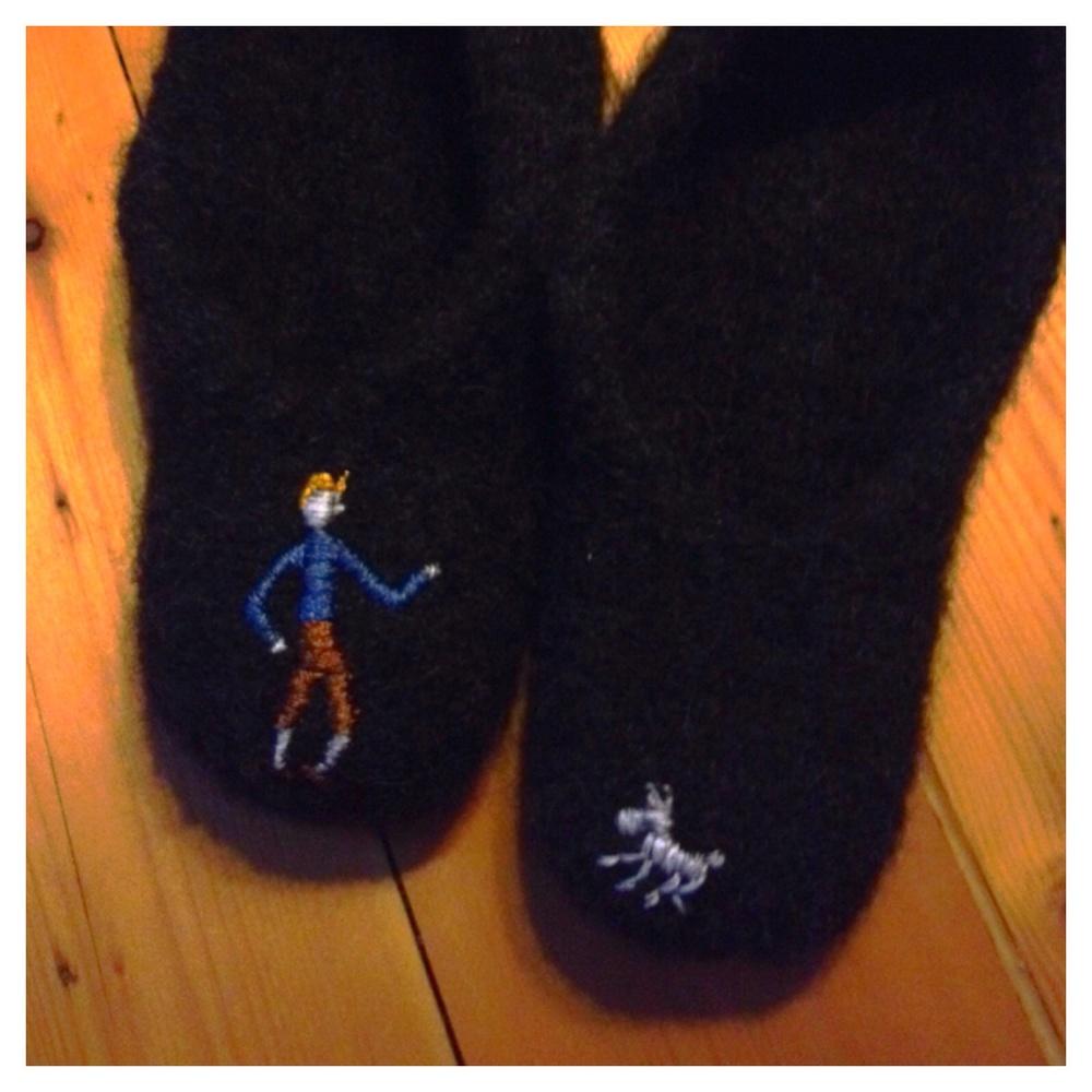 ...och Tintin på brorsans.
