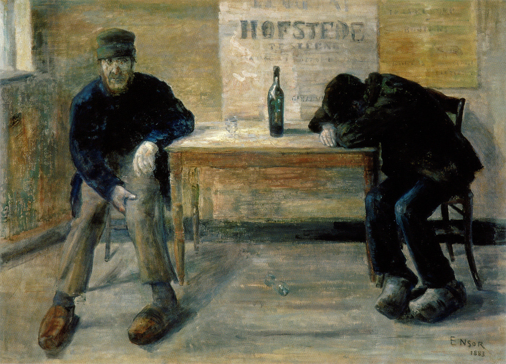 """The Drunkards"" by James Ensor"