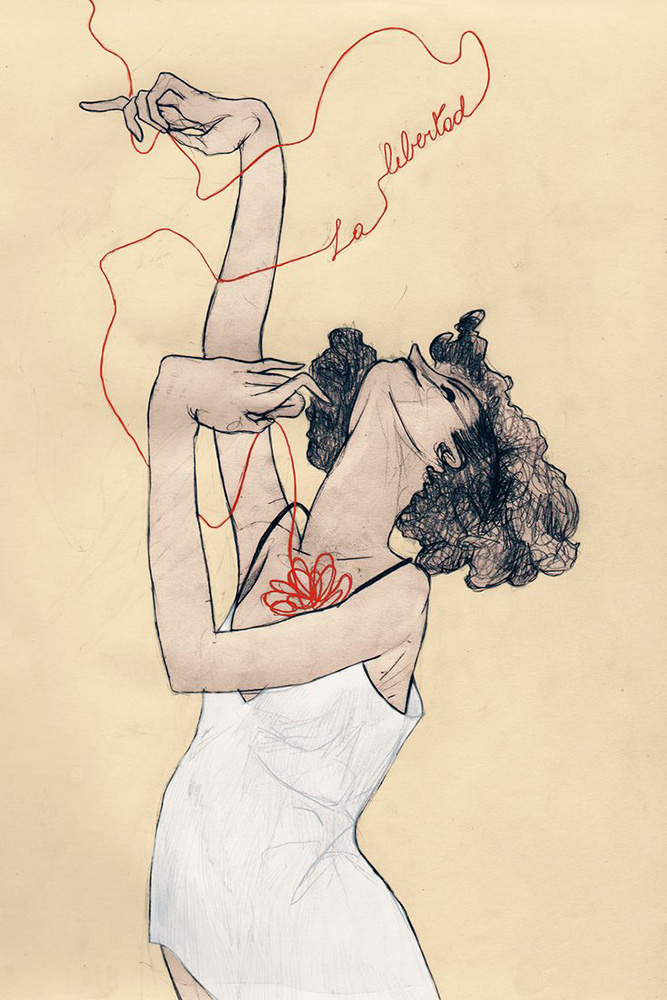 """La Libertad"" by Egon Schiele"