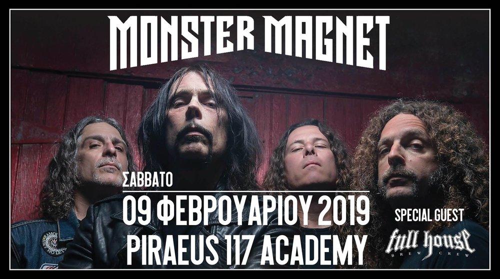 Monster Magnet, Full House Brew Crew @ Piraeus 117 Academy_poster.jpg