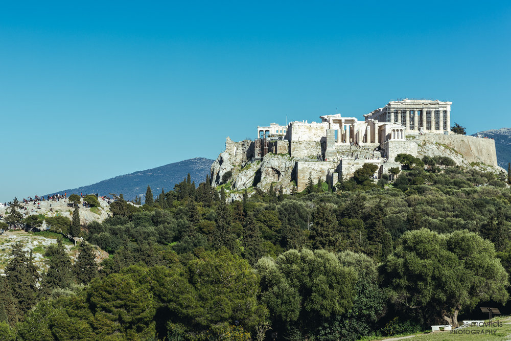 A final unobstructed view of the Acropolis.
