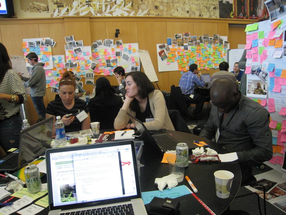 A six-hour design challenge workspace
