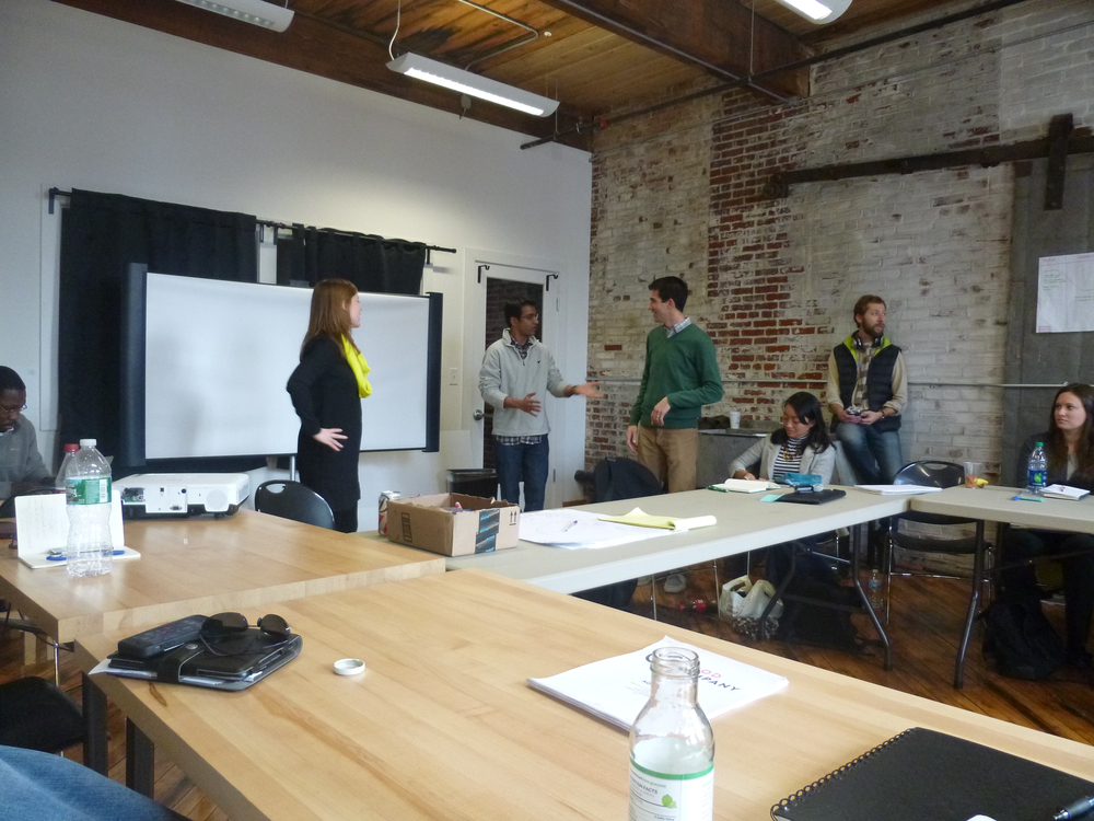 FastFWD Entrepreneurs enacting a future success story from one of their users' perspectives.