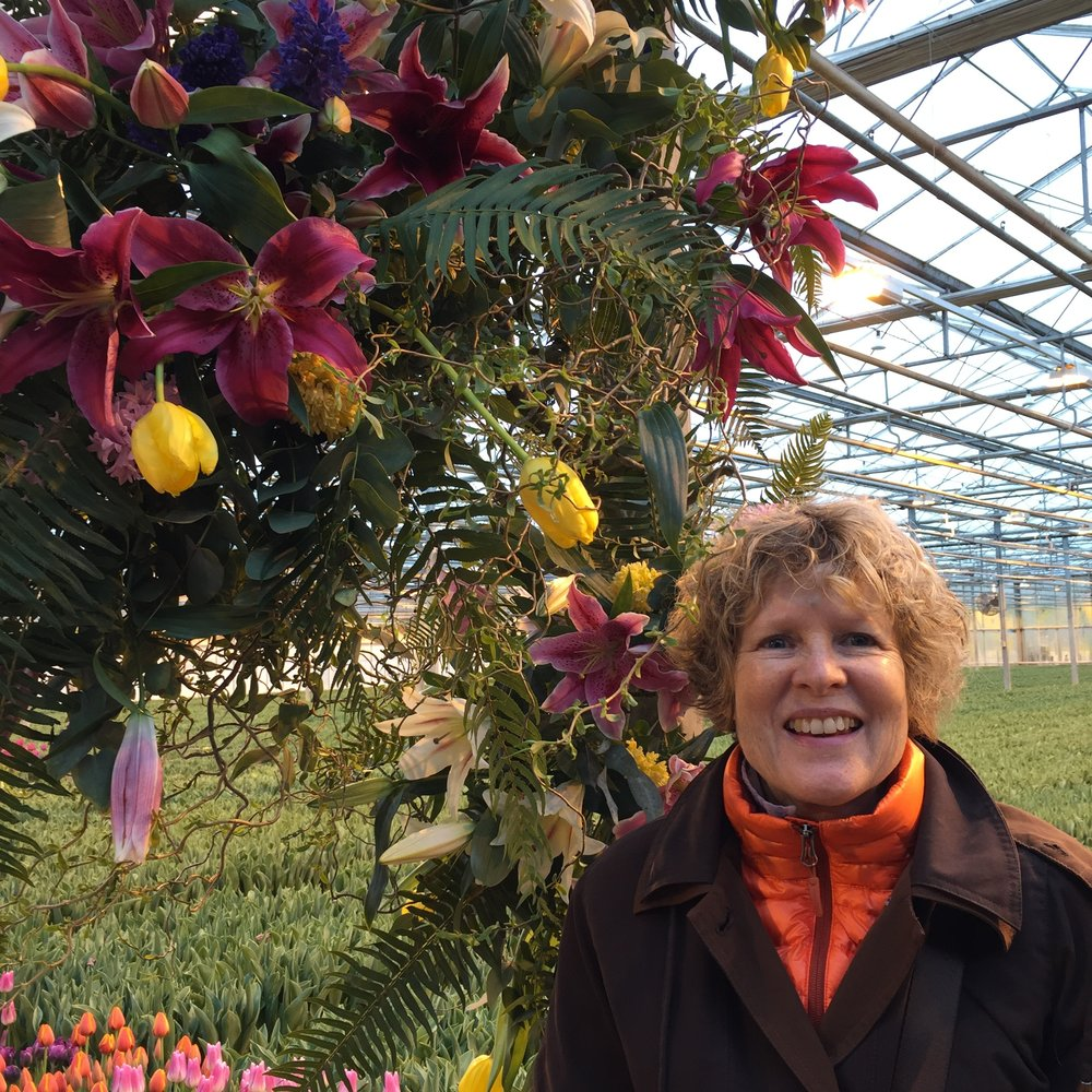Kathrin Green - Kathrin comes from 27 years in retail in England.2 years ago she took a 2 week Professional Business of Floristry Course from the Judith Blacklock Flower School in Knightsbridge London. From this course she got an apprenticeship with Papillon Floral Design in California. Through this apprenticeship she became aware of the North Bay Collective, a group of flower farmers and floral designers, including Nichole Skalski.  Kathrin lives with her family in Sebastopol, CA.