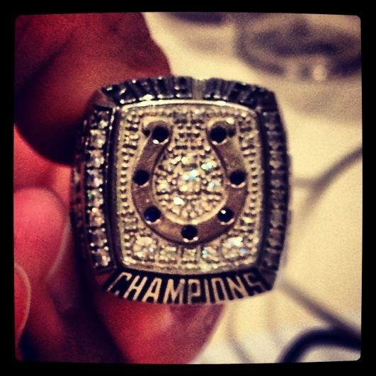 Josh Bleill's championship ring.