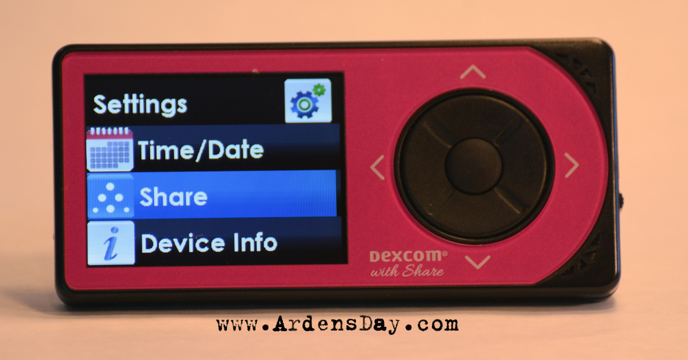New Dexcom CGM with Share unboxing photos from Arden's Day type 1 diabetes parenting blog. www.ardensday.com