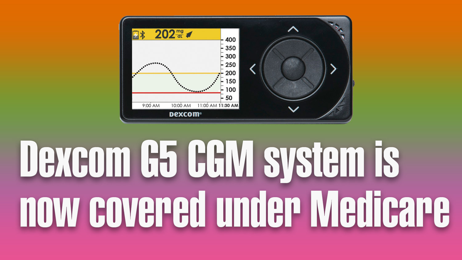 Dexcom G5 Cgm System Is Now Covered Under Medicare Arden S Day And