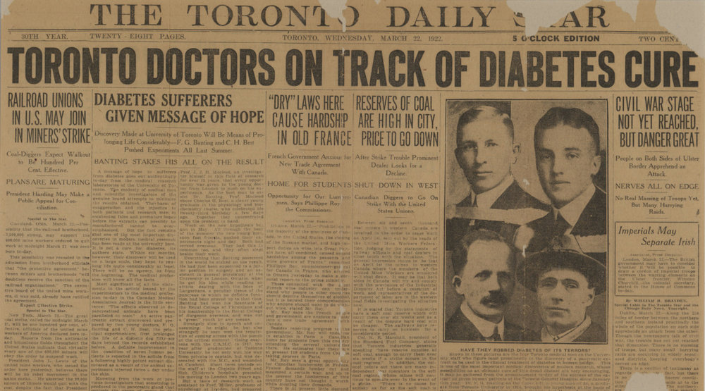 On This day, January 11 1922: Insulin Was First Used to Treat Diabetes