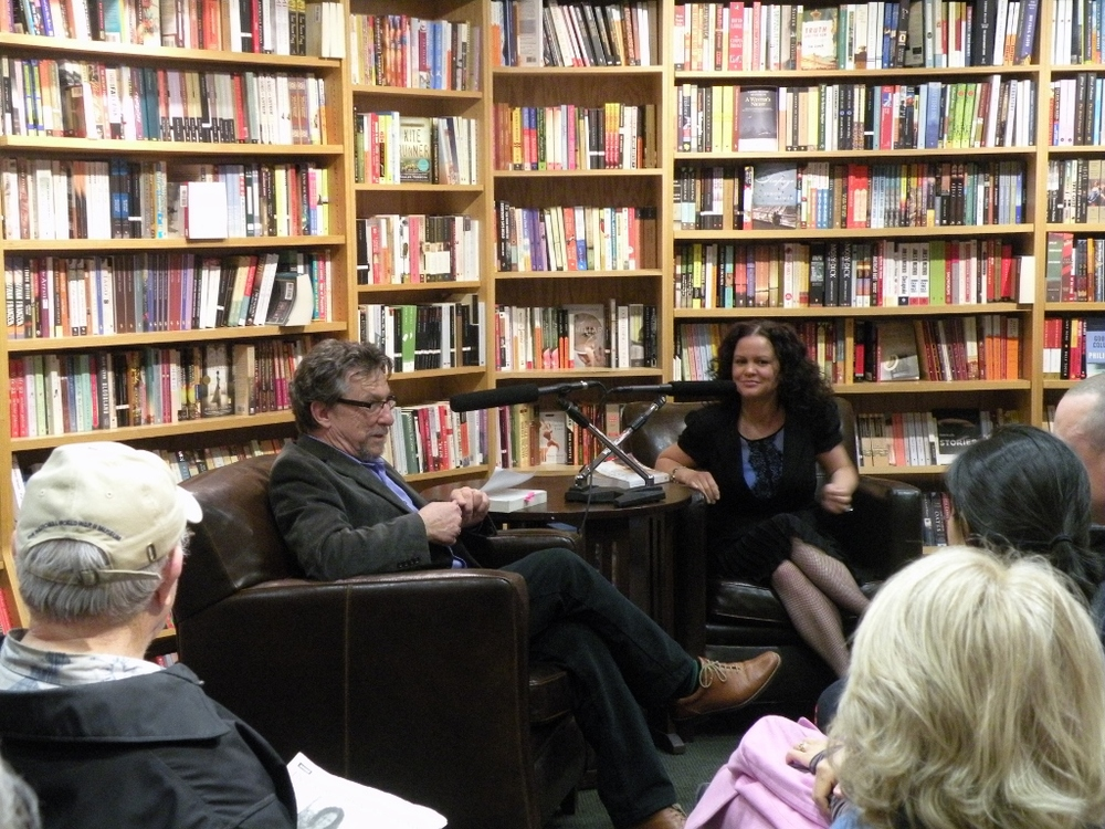 Jeanine with NPR personality Marc Steiner, discussing  The Crooked Branch  at The Ivy Bookstore in Baltimore, Maryland.