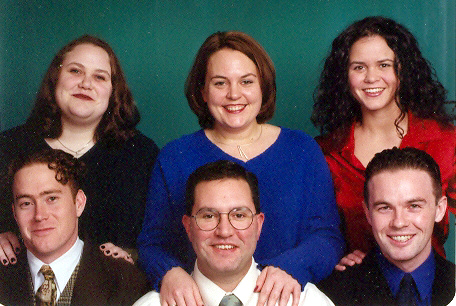 The Cummins siblings, Kathy, Tom, and Tink, with their spouses, circa 2004.