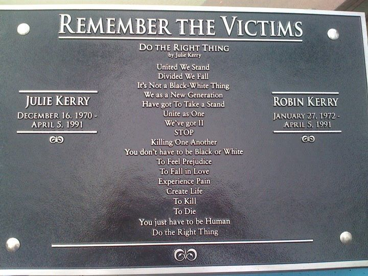 Remember the victims.