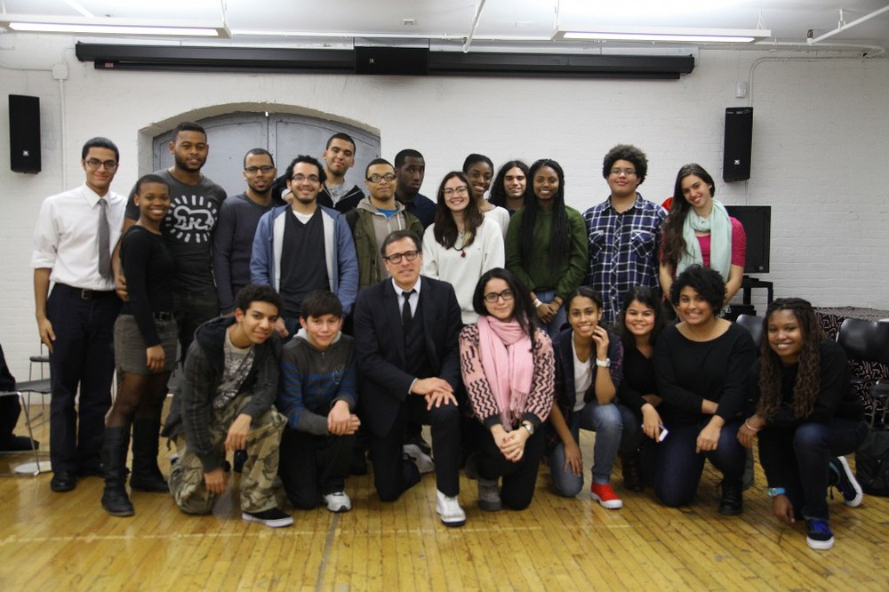 Recent photo of David O. Russell at GFS (for a class he taught in South Bronx HQ).